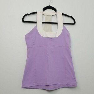 Lululemon Purple Scoop Neck Tank Top Size 10